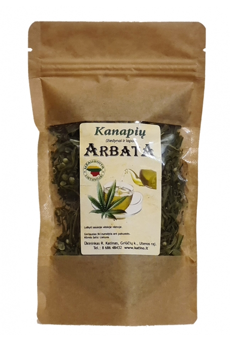 Kanapių lapų ir žiedų arbata(100 proc. natūrali) 20g.