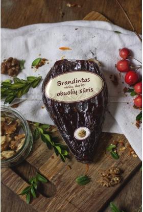 Brandintas naminis, rankų darbo obuolių sūris (su graikiniais riešutais). 180-250 g.