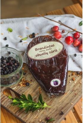 Brandintas naminis, rankų darbo obuolių sūris (su slyvomis). 180-250 g.
